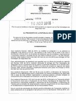 DECRETO 1310 DEL 10 de AGOSTO de 2016 Plan Estrategico de Seguridad Vial