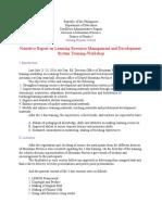 LRMDS Training Narrative