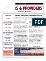 Payers & Providers – Issue of July 15, 2010