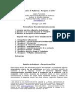 Estudios de Audiencia y Recepcion en Chi