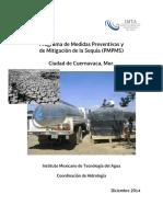 Programa de Medidas Preventivas y de Mitigación de La Sequia en Cuernavaca , Morelos.