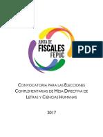Convocatoria Elecciones Complementarias LLCCHH 2017