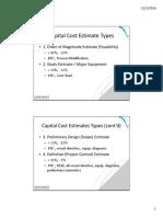 Cost Estimation