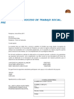 Carta de Presentacion Trabajo Social e Ing. Proyectos II 2017 1