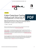 Color-Conscious Casting Fights Hollywood's Diversity Problem