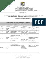 Calendário de Atividades MPECIMTurma 2017Semestre1