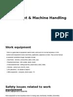 Mechanical and Manual Handling