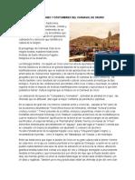 Tradiciones y Costumbres Del Carnaval de Oruro