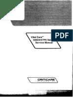 Criticare VitalCare 506DXNTP2 - Service Manual