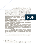 Definiția și funcțiile sociologiei
