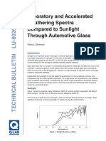 Comparing Sunlight So Accelerated Testing Light on Automotive Glass