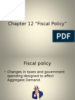 AP Eco Chapter 12 Fiscal Policy