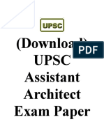 Download UPSC Assistant Architect Exam Paper