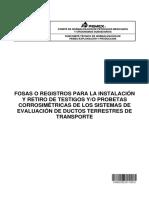 Nrf-292-Pemex-2012 - Fosas o Registros Para La Instalación y Retiro de Testigos y o Probetas Corrosimétricas