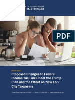 Proposed Changes to Federal Income Tax Law Under the Trump Plan and the Effect on New York City Taxpayers
