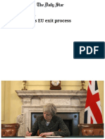 Britain Launches EU Exit Process