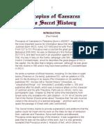 Procopyus of Cesarea - The Secret History - Introduction.doc