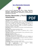 Fechas Patrias y Nacionales Venezuela