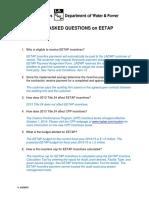 EETAP FAQs