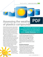 Weatherability of Plastic Compounds