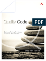 Stephen Vance - Quality Code Software Testing Principles, Practices, And Patterns - 2014