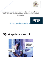 Las Bases Cognitivas de La Comunicación y La Estructura de La Teoría Lingüística