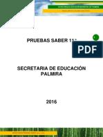 Informe Pruebas Saber  2016 secretaría de educación