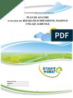 Model Pl de Af Atelier Reparatii Masini Agric