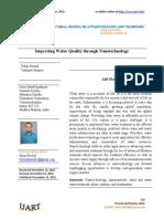 Improving Water Quality through Nanotechnology