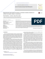 Experimental and numerical study on moment-rotation relations of welded end-plate tubular connections