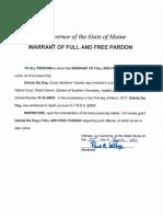 Maine governor pardon of Dakota the dog