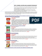Paint, Varnish, Solvent, Thinner, Coating and Lacquers Technology-books