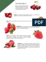 Para Que Sirve Cada Fruta