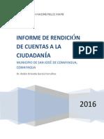 Informe Final de RCC MAFE San José 2016