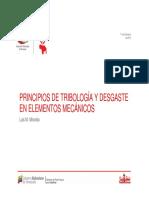 Tribología y Desgaste en Elementos Mecanicos