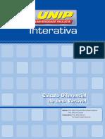 Cálculo Diferencial de Uma Variável - Unidade I