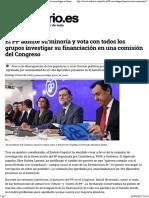 El PP admite su minoría y vota con todos los grupos investigar su financiación en una comisión del Congreso.pdf