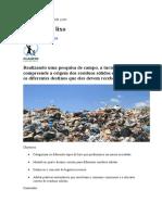 Projeto Os Tipos de Lixo