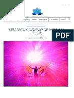 Seu Raio Cósmico de Missão - Rosa