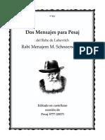Cartas Pesaj 5777