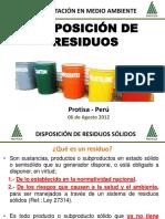 Disposición de Residuos - Protisa