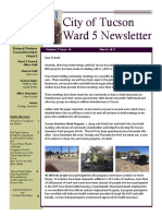 Tucson Ward 5 Councilmember Richard Fimbres newsletter for March 2017