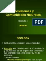 Ecosistemas y Comunidades Naturales