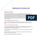 Foreign Marriages of Filipinos 2007