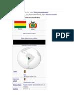 l Nombre Bolivia Es Una Derivación Del Apellido Paterno de Simón Bolívar
