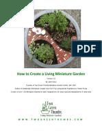 How to Create a mini Garden