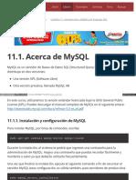 11.1. Acerca de MySQL