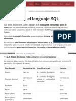 11.2. Sobre El Lenguaje SQL