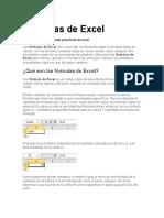 Fórmulas de Excel