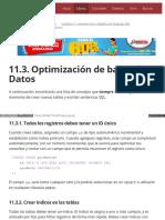 11.3. Optimización de Bases de Datos